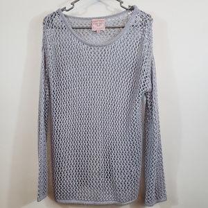 Romeo and Juliet women's open weave sweater size m